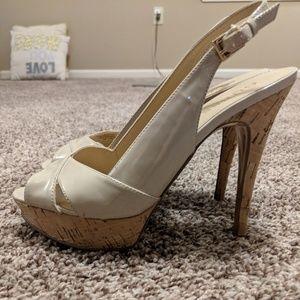 Guess - Nude Slingback Heels